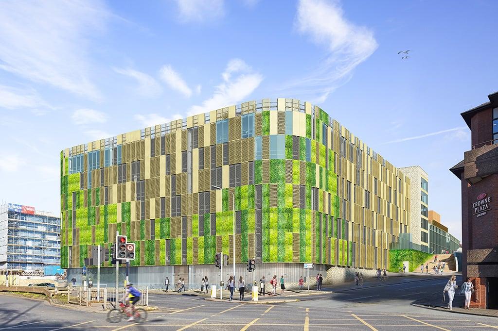chester northgate new car park facade