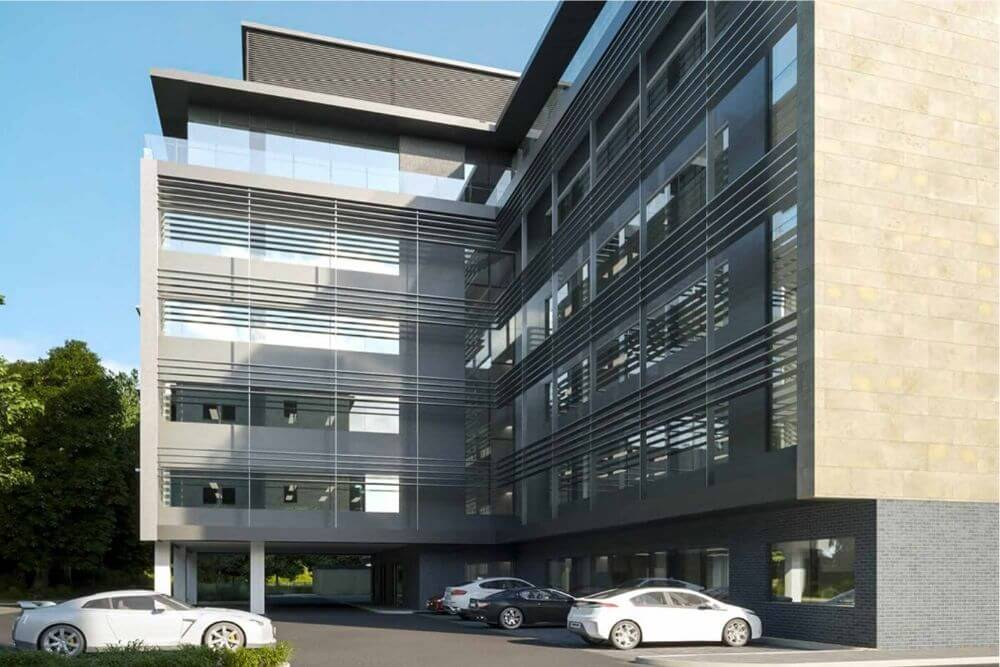 Maple 39 s solar solutions to the force as glass dominates new office building in cheltenham - Office supplies cheltenham ...