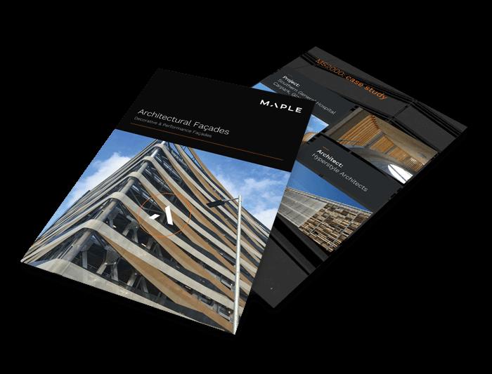 Architectural facade brochure