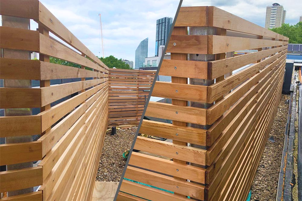 laser house timber screening louvres