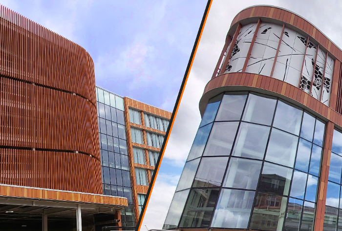 Maple's architectural façade is the standout feature of a new Nottingham car park.