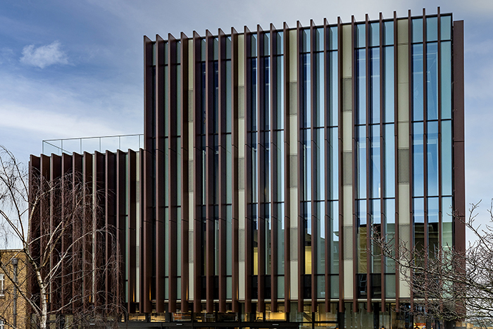 Brise soleil fins at University of Leicester are among the biggest Maple have installed