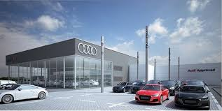 Maple supply roller blinds for Audi showroom refurbishment in Guildford