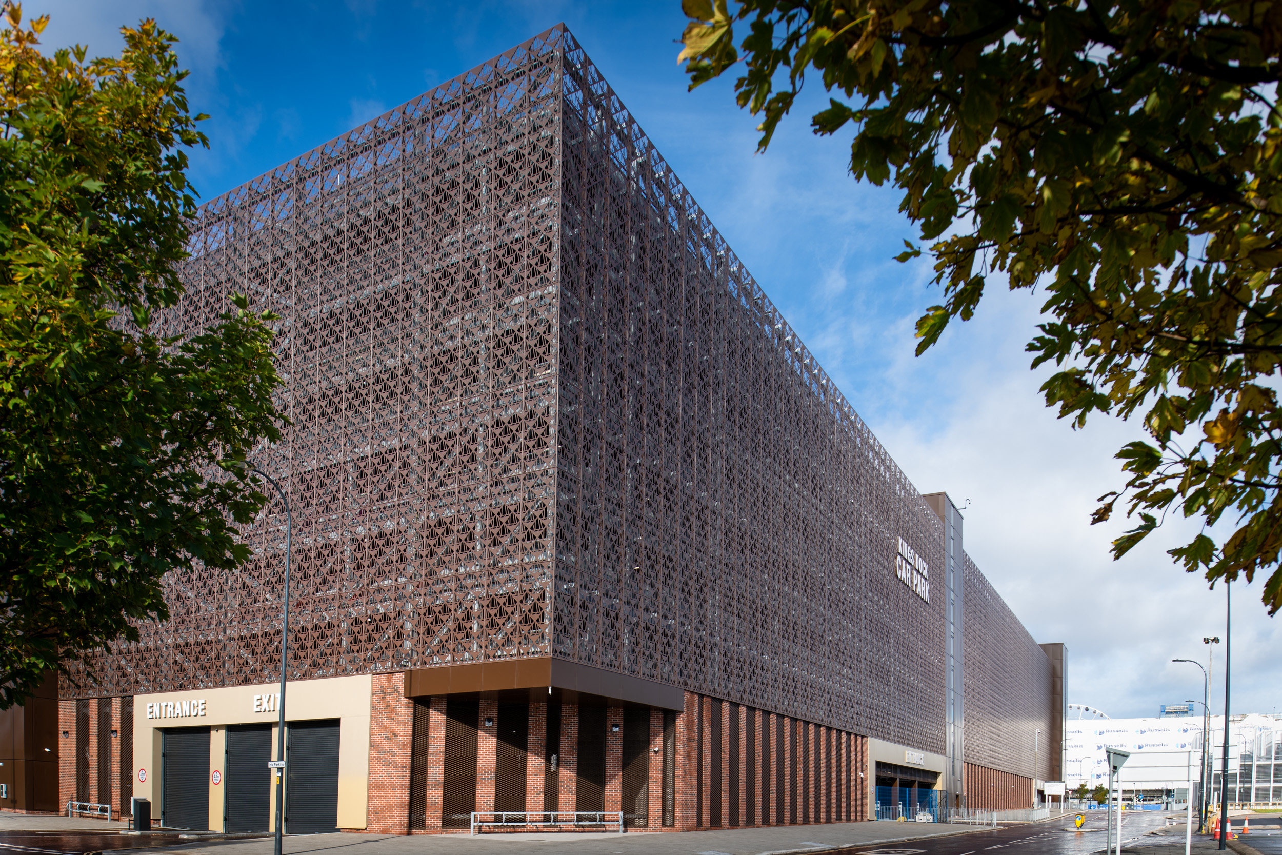 Maple complete architectural façade project at Liverpool's Kings Dock car park