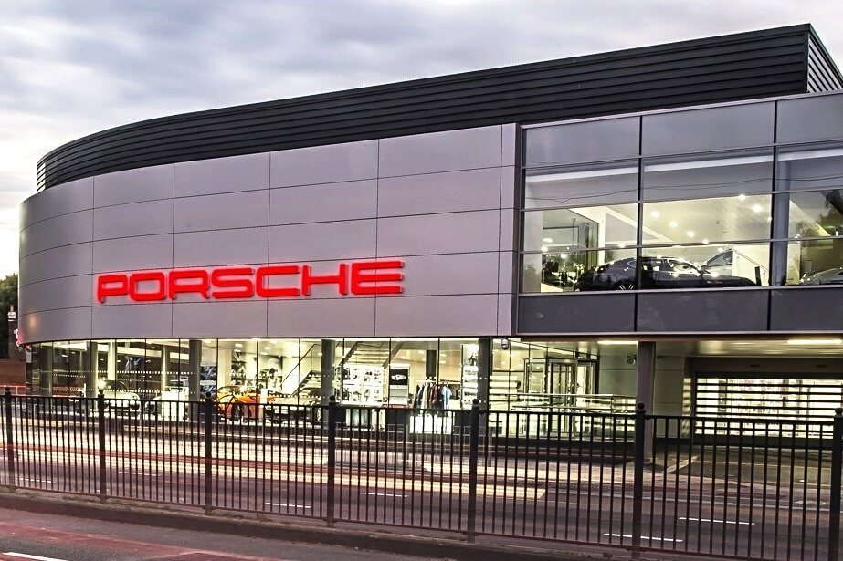 Porsche dealership prefers rollers...but it's not what you think
