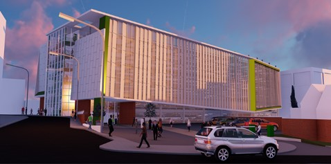 Maple install façades, screens and louvres for challenging car park site in Coventry