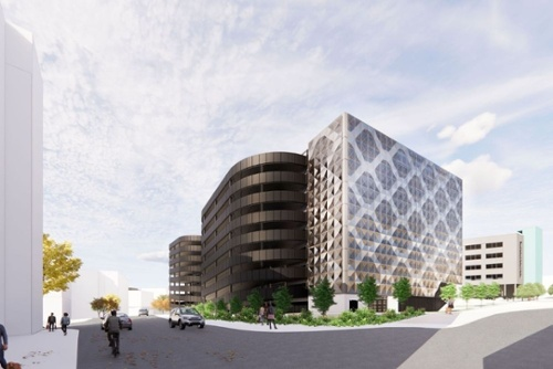 Maple come full 'circle' for North-East car park façade