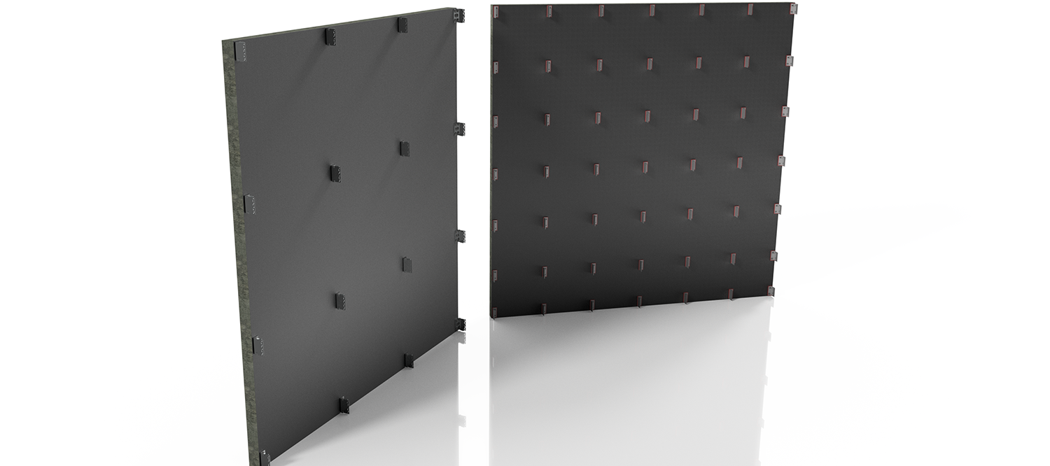 Bracket density comparison rainscreen cladding