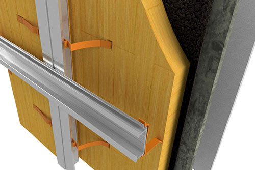 Insulation clip vertical and horintal