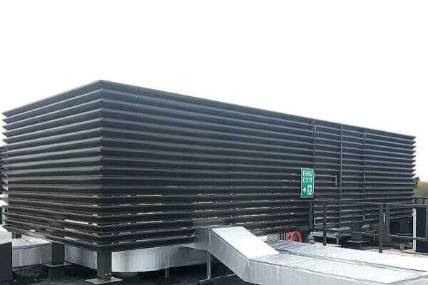 Maple have supplied and installed rooftop louvred plant screens for University of Winchester